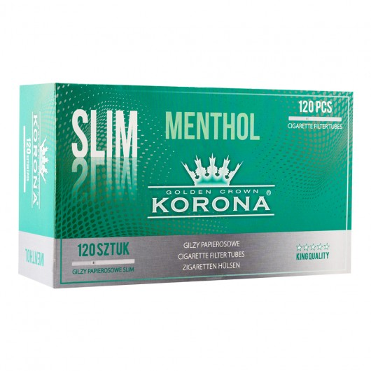Gilzy Korona Slim Menthol 120 sztuk